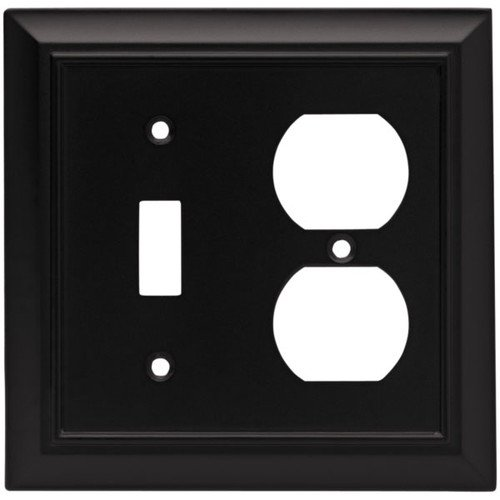 Brainerd Architectural 2 Gang Toggle Switch Duplex Outlet Combination Wall Plate Walmart Com Walmart Com