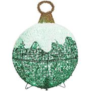 Noma/Inliten-Import V78771 Outdoor Christmas Decoration, Green Ornament, 50 Twinkling LED Lights, 24-In.