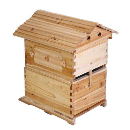 HERCHR Super Beekeeping Brood House Box For 7 Auto Honey Bee Hive Frames, Beekeeping Brood House Box, Beekeeping Brood House Box For 7 Auto Honey Bee Hive Frames ()