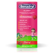 Children?s Benadryl Antihistamine Allergy Liquid, Cherry, 8 fl. oz