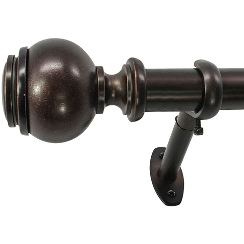 "Image of 22 Park West Capped Ball 1"" Telescoping Curtain Rod Set"