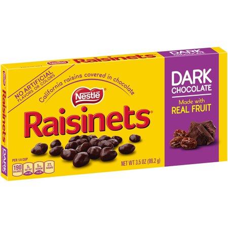 Nestle Raisinets Dark Chocolate Covered Raisins, 3.5 oz