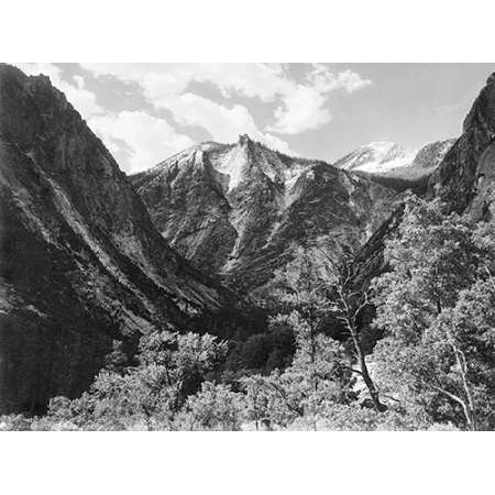 1936 Replica Sky King - Paradise Valley Kings River Canyon proVintageed as a national park California 1936 Poster Print by Ansel Adams