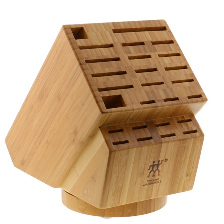 ZWILLING J.A. Henckels 26-slot Bamboo Swivel Knife Block
