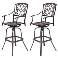 Topbuy Set of 2 Cast Aluminum Chair Patio Furniture Antique Copper Outdoor