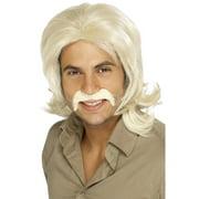 "26"" Blonde Ivory 1970 Style Fringed Retro Men Adult Halloween Wig Costume Accessory - One Size"