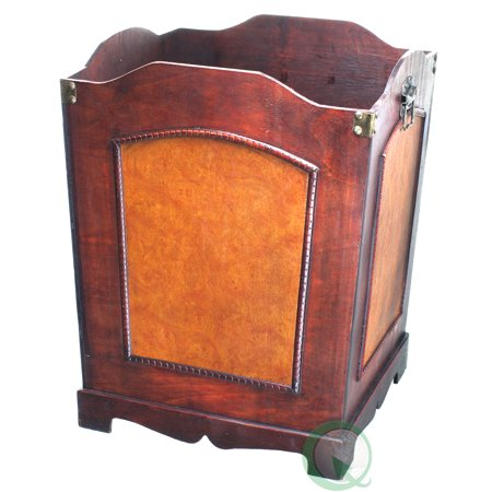 Antique Wooden Waste Can - Bin with Handle (Waste Bin Handles)