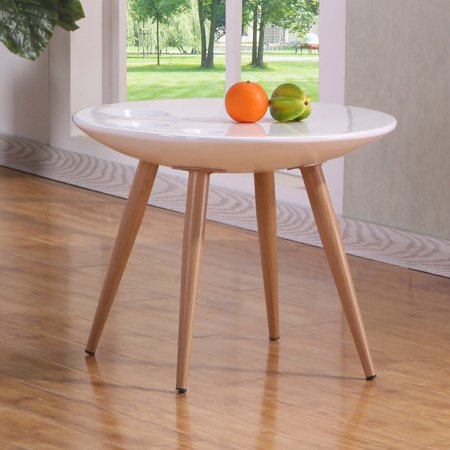 White High Gloss End Table CT85