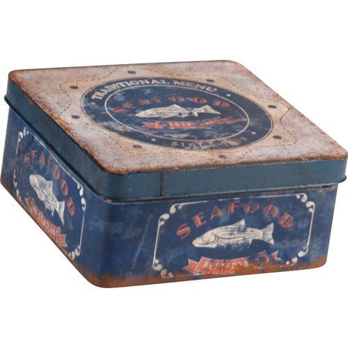 Wilco Home Square Tin Can Metal Box