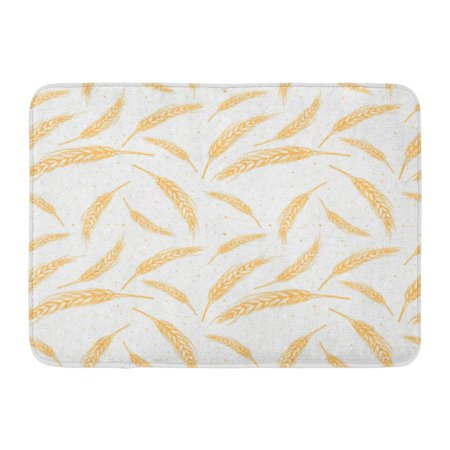 - GODPOK Sketch Yellow Agriculture Ears of Wheat Malt Beer Autumn Harvest Cereal Drink Rug Doormat Bath Mat 23.6x15.7 inch