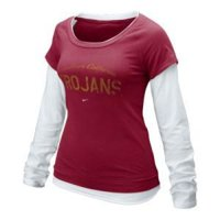 Usc Trojans Women's Nike L/s Double Layer Tee