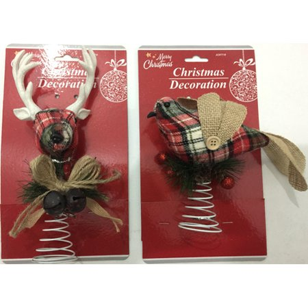 New 377844  Hx Tree Top W / Ornament Reindeer Or Bird (24-Pack) Christmas Cheap Wholesale Discount Bulk Seasonal Christmas](Christmas Tree Ornaments Wholesale)