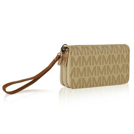 MKF Collection Kirbi M Embossed Designer Wallet by Mia K (Best Female Wallet Brand)