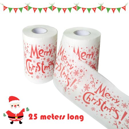 Christmas Printing Paper Toilet Tissues Novelty Roll Paper for Christmas Decoration - image 3 of 7