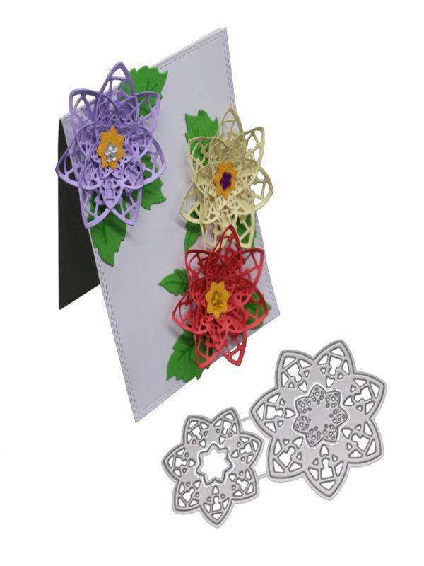 NEW Flower Metal Cutting Dies Stencil DIY Scrapbooking Album Paper Card Craft