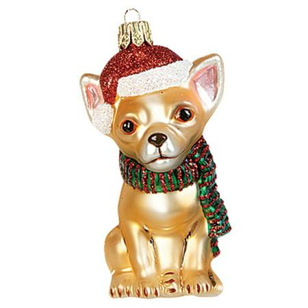 Chihuahua Wearing Santa Hat Polish Glass Christmas Ornament Dog Tree  Decoration - Walmart.com - Chihuahua Wearing Santa Hat Polish Glass Christmas Ornament Dog Tree