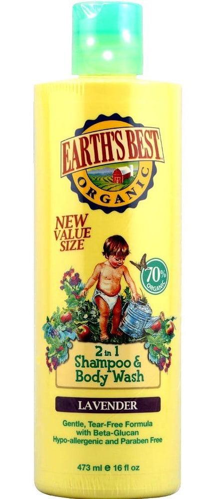 Earth's Best Organic Shampoo and Body Wash, Lavender, 16 Fl Oz by Hain Celestial