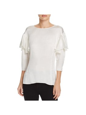 27fadf8d9603b Product Image Rebecca Taylor Womens Silk Textured Button-Down Top White 12