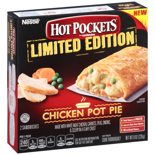 Hot Pockets Limited Edition Chicken Pot Pie Sandwiches, 2 count, 8 oz