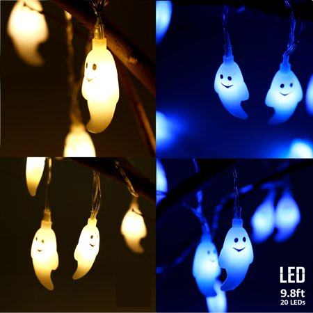 TORCHSTAR Halloween Lights with Ghost Pendants, Outdoor Decorative Lights