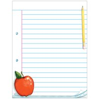 Teacher Created Resources 7683 Notepad Paper Lined Chart