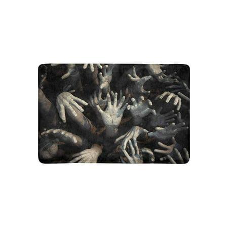 MKHERT Halloween Theme Ghost Zombie Bloody Hand Doormat Rug Home Decor Floor Mat Bath Mat 23.6x15.7 - Zombie Themes