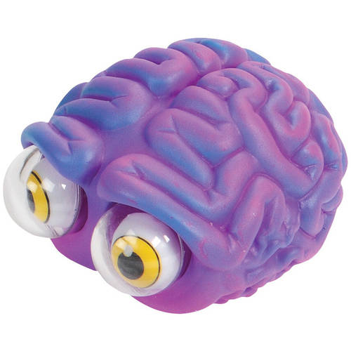 Warm Fuzzy Toys Poppin' Peeper Brain Fidget Toy, 3 Inches