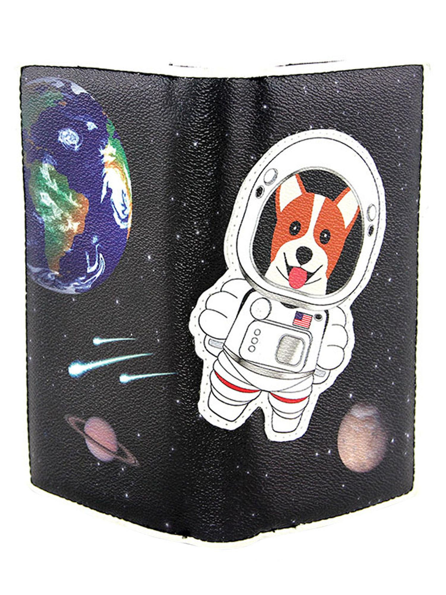 Sleepyville Critters Cute Astronaut Corgi Puppy Dog Outer Space Spaceship Wallet