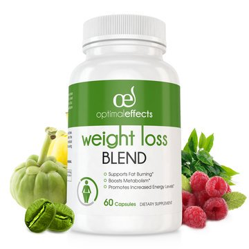 Weight Loss Blend by Optimal Effects with Green Coffee Bean, Grean Tea, Caffeine, Raspberry Ketones, and Garcinia