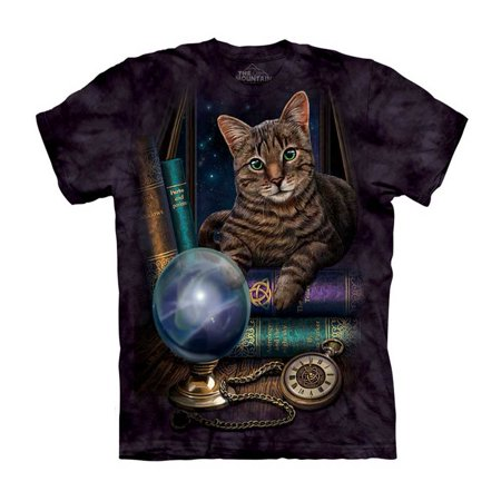 The Fortune Teller Adult T-Shirt Cat Kitty Future Mountain Crystal