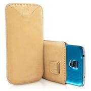 Snugg B00IIOWYAO Samsung Galaxy S5 Pouch Case, Tan Suede