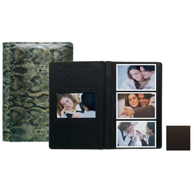Raika TN 127 BROWN 4inch x 6inch Three High Photo Album - Brown