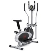 Best Choice Products Elliptical Bike 2-in-1 Cross Trainer Exercise Fitness Machine Upgraded Model by
