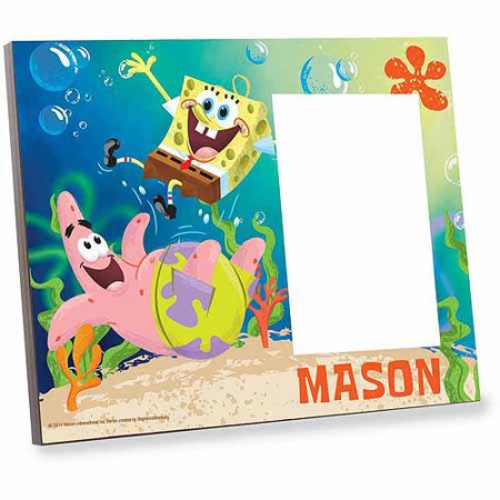 Personalized Spongebob SquarePants F-U-N Picture Frame (Personalized Halloween Frames)