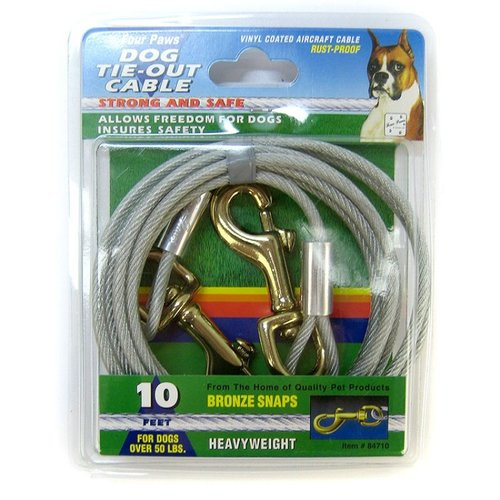 Four Paws Tie-Out Cable - Heavy Weight 10 Foot Cable