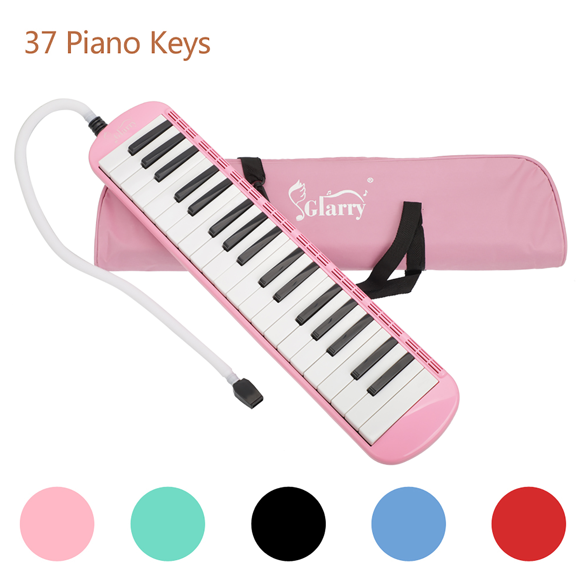 """37"""" Melodica Instrument for Kids, Gift Pink Classic Musical Instrument Piano Keys Melodica For Music Lovers, Beginners Gift with Carrying Bag Organ"""