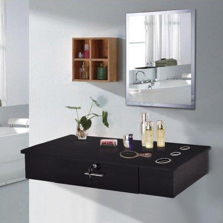 - UBesGoo Barber Storage Cabinet Wall Mount Hair Styling Station Salon Spa Equipment Black
