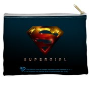 Supergirl Logo Accessory Pouch White 8.5X6