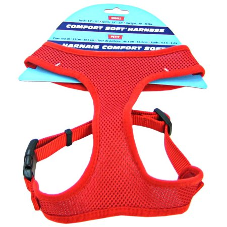Coastal Pet Comfort Soft Adjustable Harness - Red Small - 3/4 Wide (Girth Size 19-23)