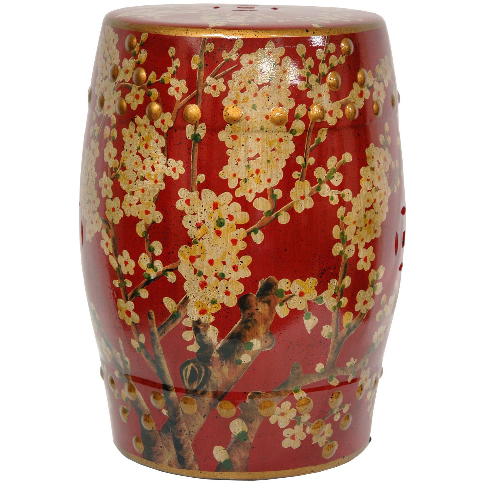 Oriental Furniture Sakura Blossom Garden Stool