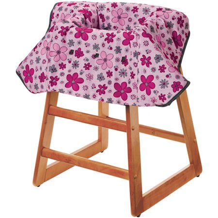 Evenflo - Multi-Use High Chair and Shopping Cart Cover, Daisy Scribble The Evenflo - Multi-Use Baby Shopping Cart Cover in Daisy Scribble provides complete coverage and comfort for your child while in a shopping cart or a high chair. On the infant shopping cart cover are three toy loops for baby's toys and a storage area with a bottle holder.