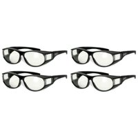 3ee78af739 Product Image Four (4) Global Vision Escort Over Glasses Clear Lens Safety  Glasses Has Matching Side