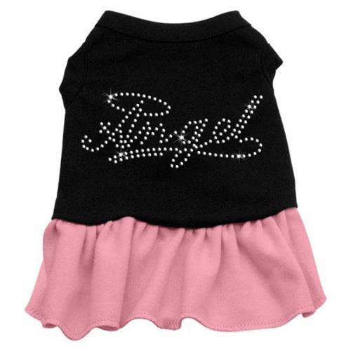 Rhinestone Angel Dress   Black with Pink Sm (10)