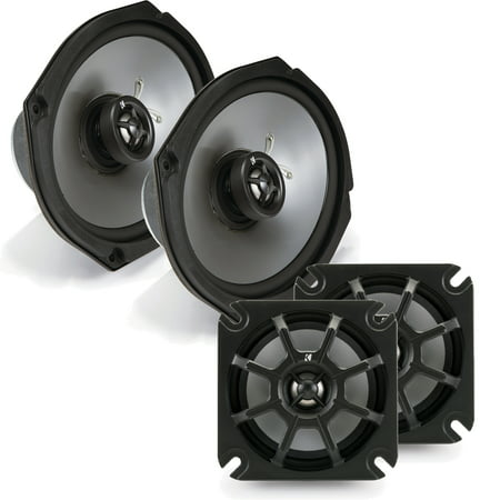 Kicker Motorcycle 4 Inch and 6x9 2-ohm Speaker