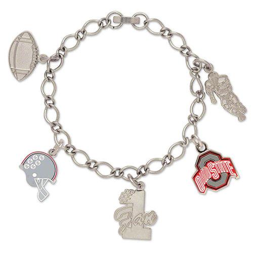 Ohio State Buckeyes 5 Charm Bracelet