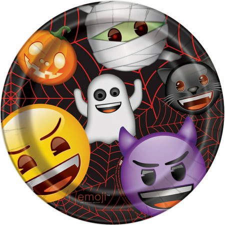 Emoji Halloween Paper Plates, 9 in, 8ct](9 100 Floors Halloween)