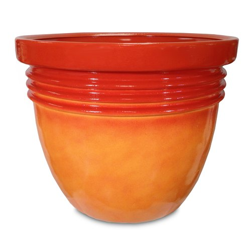 "Better Homes and Gardens 24"" Bombay Decorative Planter, Marigold"