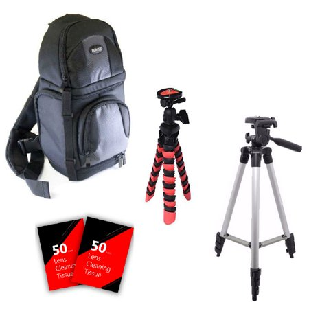 Tall Tripod, Flexible Tripod, BackPack and More for Canon Eos Rebel T2i T3 T3i T5 T5i T6 T6i 60D 70D 80D and All Canon Digital