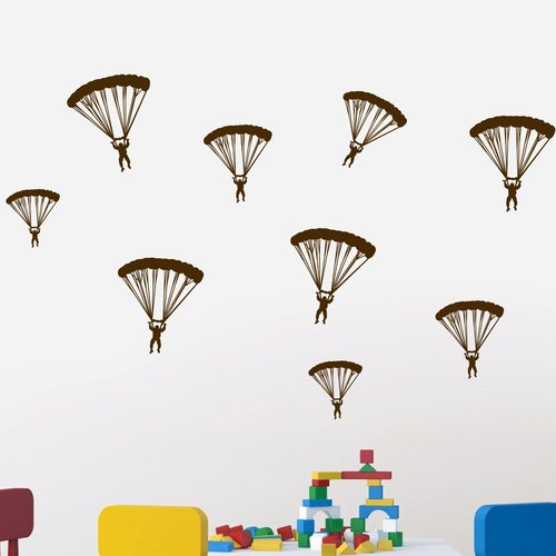 Zoomie Kids Hervey Paratroopers Wall Decal (Set of 3)
