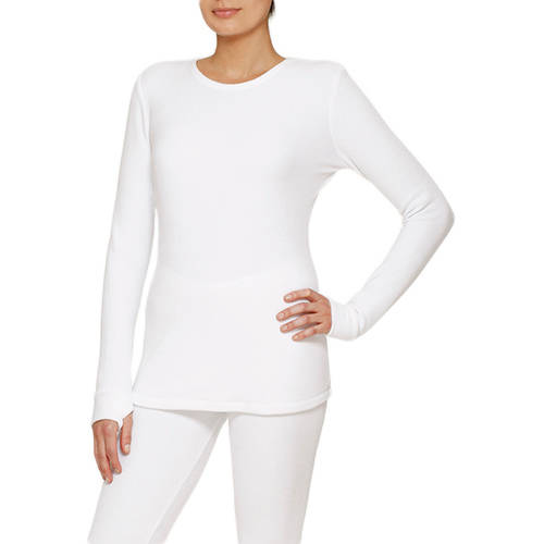 ClimateRight by Cuddl Duds Women's Stretch Fleece Warm Underwear Longsleeve Top (Sizes S-3X)